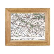 Postcode Map Wooden 10x8 Photo Frame - Popular Edition With Message